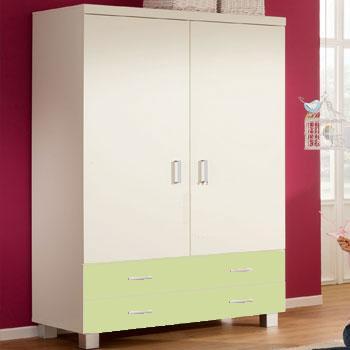 paidi biancomo babyzimmer mit schrank 2 t rig lindgr n. Black Bedroom Furniture Sets. Home Design Ideas