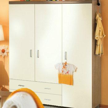 paidi leo babyzimmer mit schrank 3 t rig ecru m bel babyzimmer. Black Bedroom Furniture Sets. Home Design Ideas