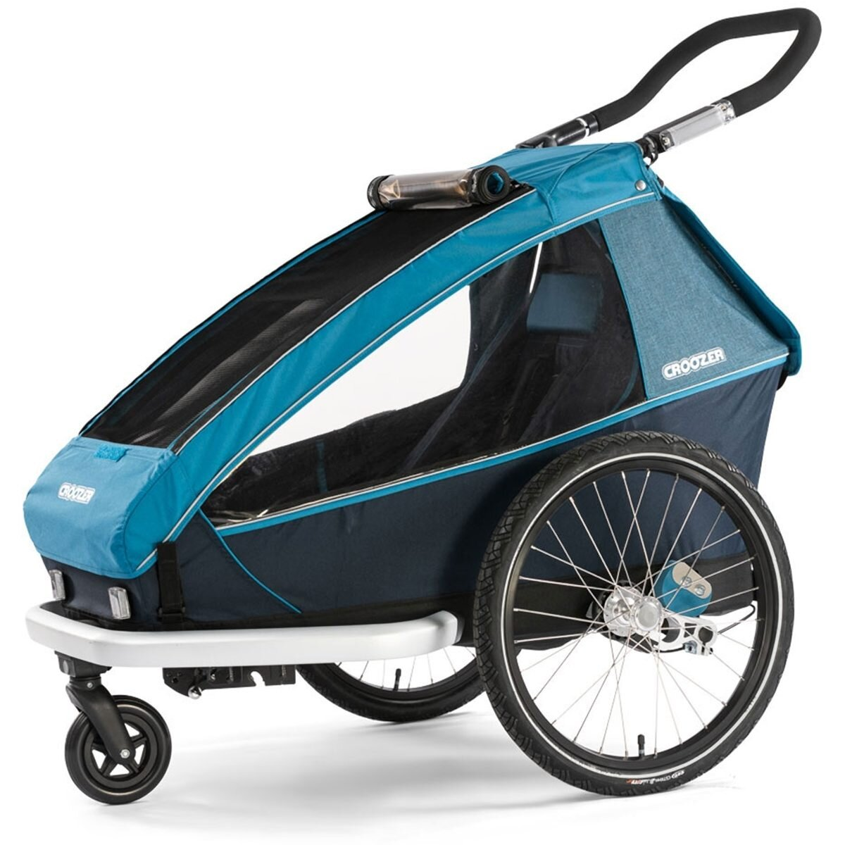 Croozer Kid Plus for 1 Fahrradanhänger Ocean blue