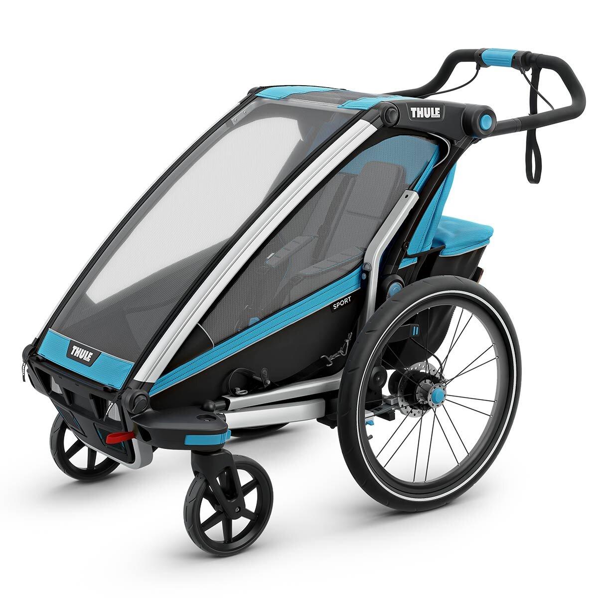 Thule Chariot Sport 1 Fahrradanhänger Modell 2019 Blue / Black