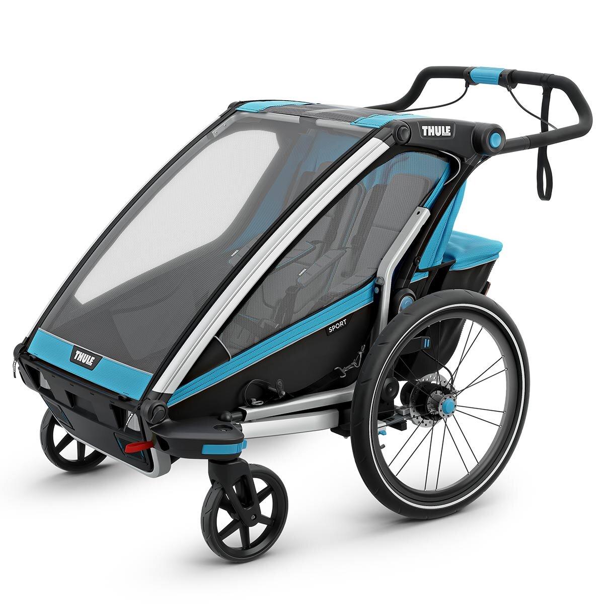 Thule Chariot Sport 2 Fahrradanhänger Modell 2019 Blue / Black