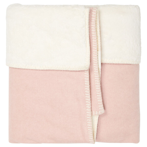 Koeka Kinderdecke Vancouver teddy shadow pink mel./natural 100x150 cm