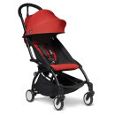 BABYZEN Kinderwagen YOYO² 6+ schwarz rot