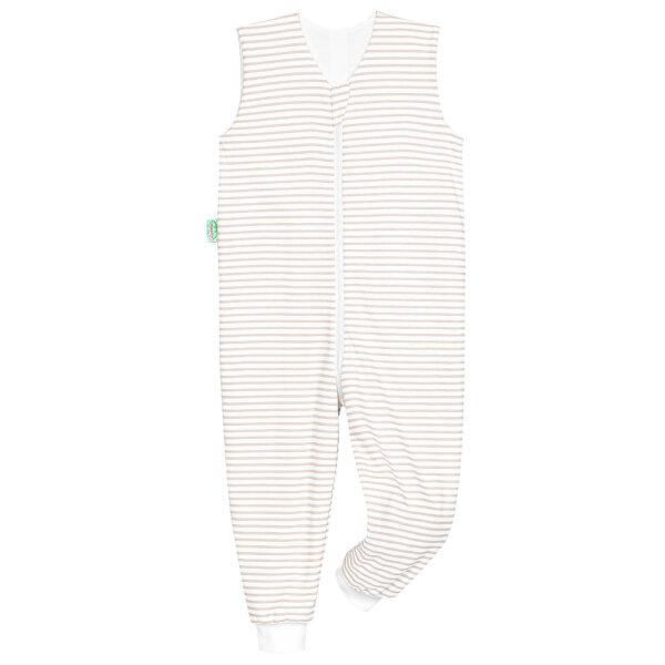 Odenwälder Jersey-Schlafoverall Hopsi stripes soft cookie