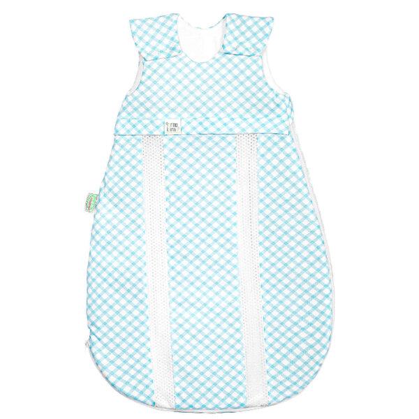 Odenwälder Jersey-Schlafsack primaklima check soft mint