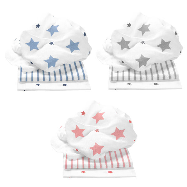 Odenwälder Doppelmull-Windeln stars and stripes 3er-Pack