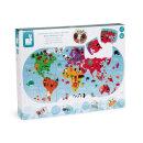Janod Badespielzeug Puzzle für die Badewanne Weltkarte
