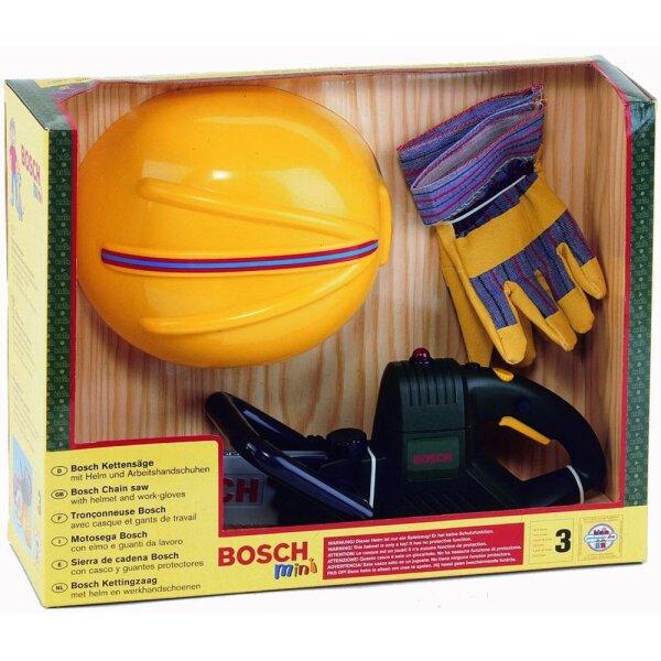 Theo Klein Bosch 8435 WerkerSet - Kettensäge mit Helm und Handschuhe