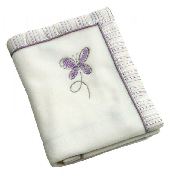 Be Bes Collection 665-26 Fleecedecke Butterfly lila