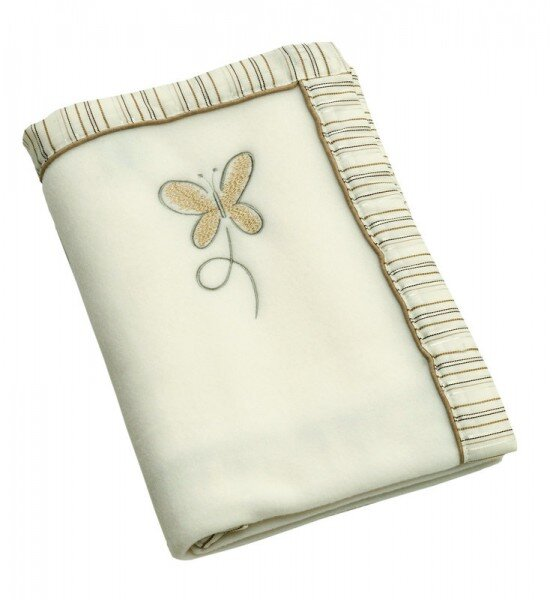 Be Bes Collection 665-28 Fleecedecke Butterfly braun