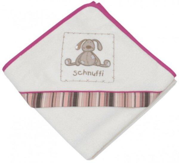 Be Bes Collection 544-61 Kapuzenbadetuch Schnuffi 100 x 100cm ecru/rosa