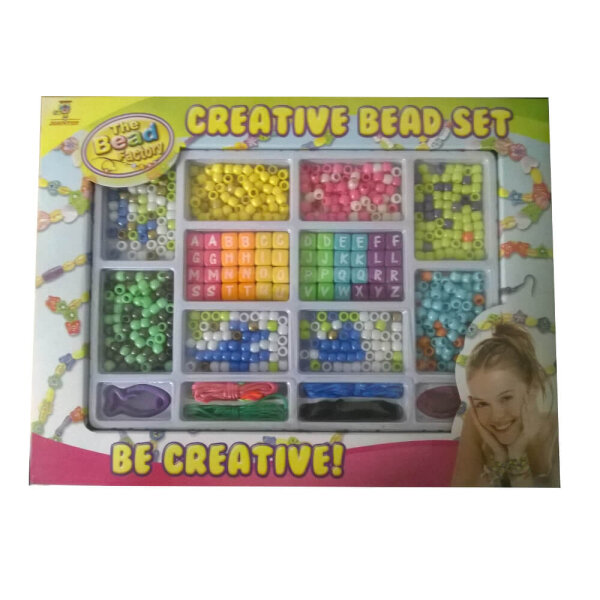 Johntoy 27392 Creative Bead Set - Perlenbänder