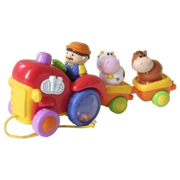 Bieco Nachzieh-Traktor mit Anhänger
