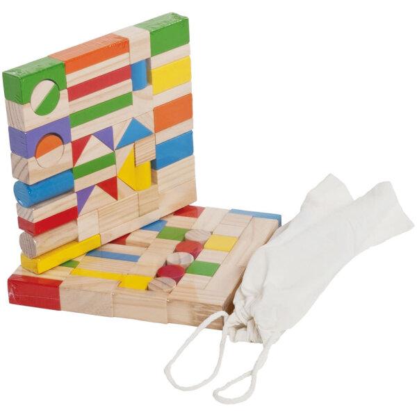Bieco 74-002051 Bausteine Block, 100 Stück Bauklötze