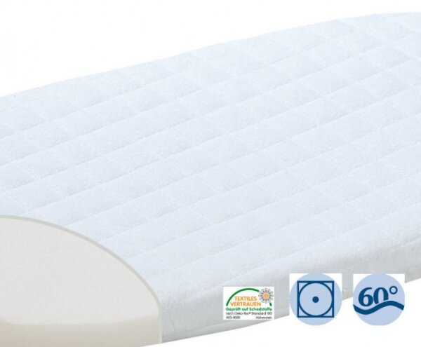 Alvi 23704 Matratze für Beistellbett Hygienica klappbar 40(50)x90 cm