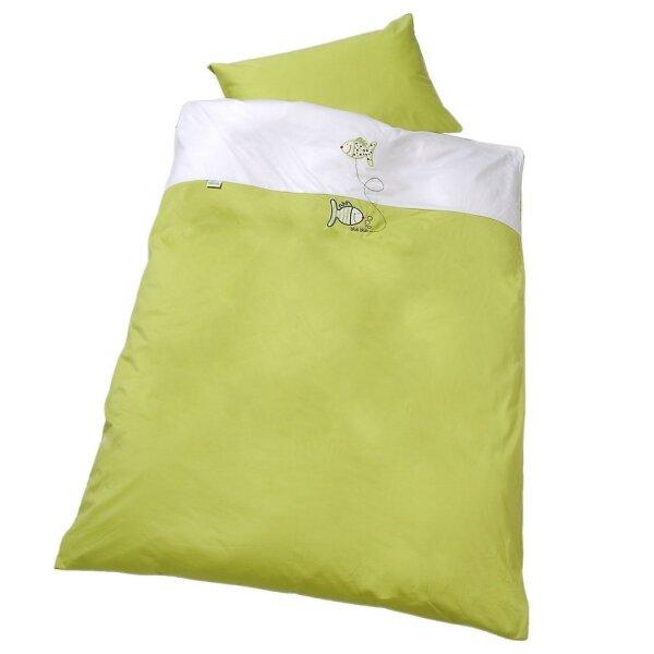 Odenwälder - 2049-501 Baby-Bettwäsche 80 x 80 cm aus Jersey mit Applikation pistazie