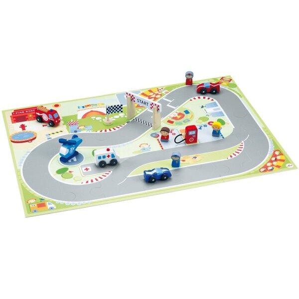 Sevi 82626 Spielpuzzle F1 mit Figuren