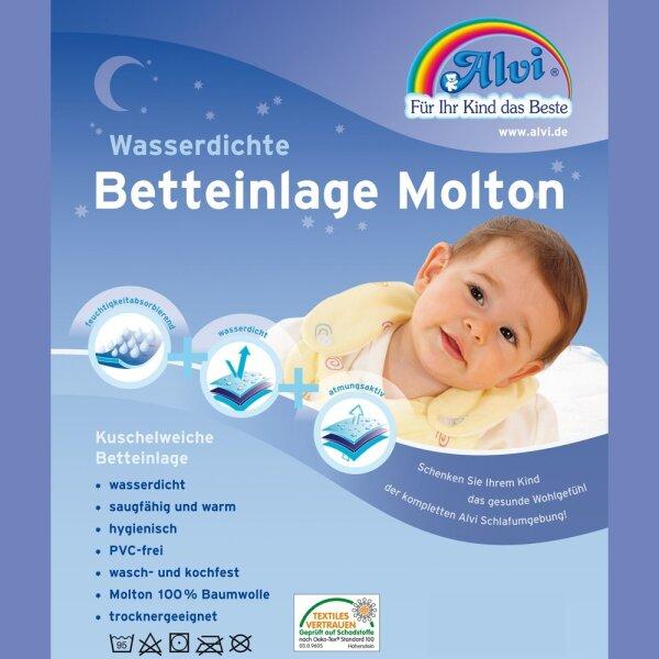 Alvi 93738 Betteinlage Baby-Wohl-Molton Jersey 50x90cm