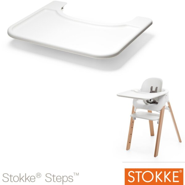 Stokke Steps Baby Set Tablett weiß