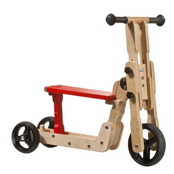 Geuther 2 in 1 Scooter natur/rot
