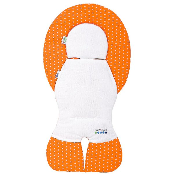 Odenwälder 10165-1999 Babycool- Auflage für Babyschalen Tupfen orange