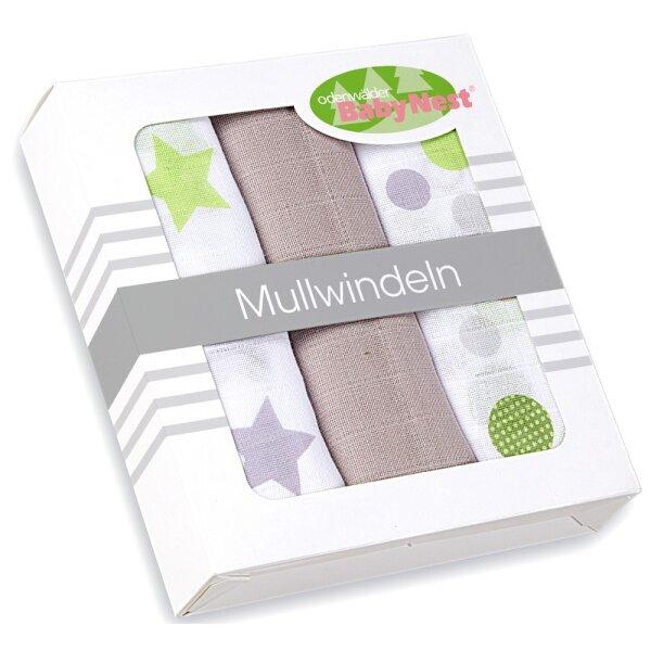 Odenwälder 10065-970 Doppelmull-Windeln 3er Pack taupe