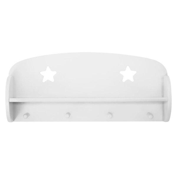 Kids Concept 700511 Wandregal mit Haken Star weiß