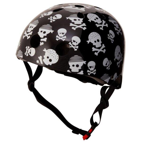Kiddimoto 2kmh043s Design Sport Helm Skullz / Pirat Gr. S, für Kopfumfang 48-53cm (2-5 Jahre)