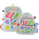 Kiddimoto Design Rucksack Tupfen Pastel Dotty groß