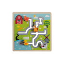 Jouéco Labyrinth-Puzzle Bauernhof Motiv Tiere