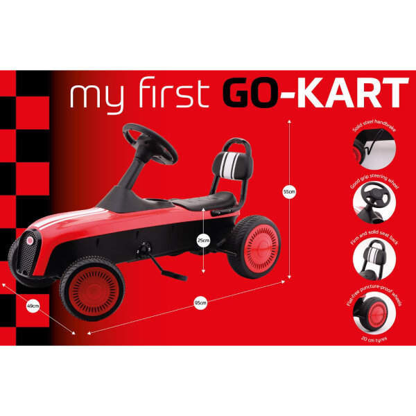 Johntoy 20524 Mein erstes rotes Go-Kart