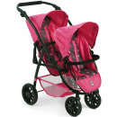 Tandem Puppen-Buggy Vario Sternchen Pink