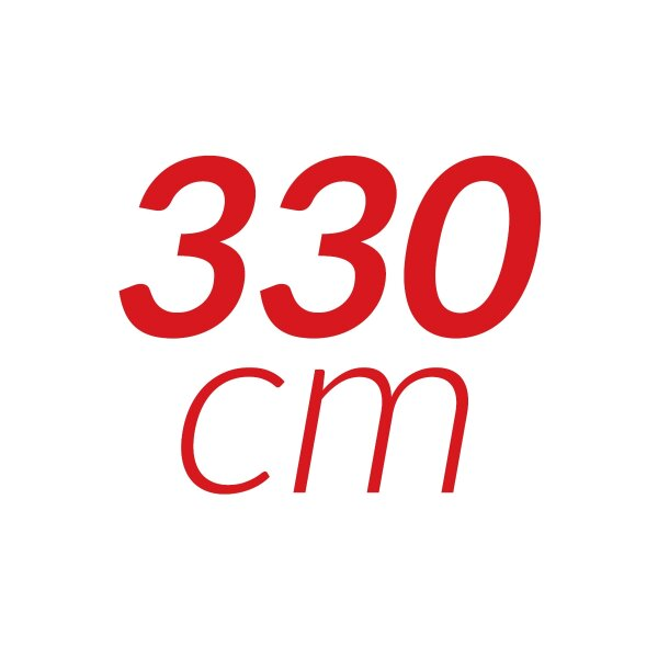 330 cm