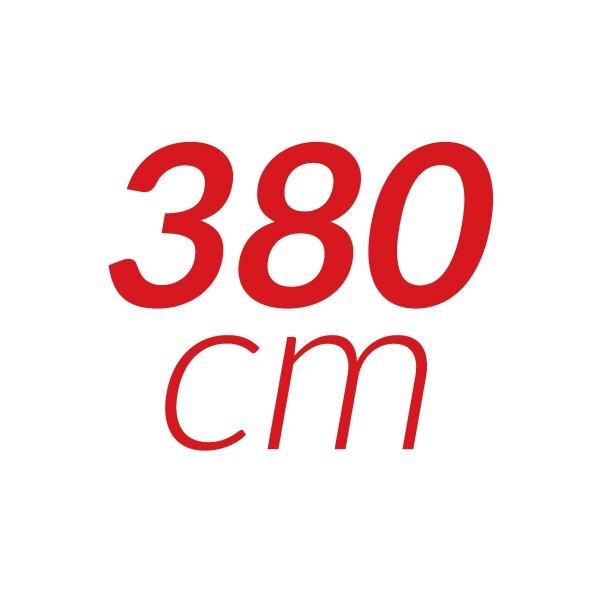 380 cm