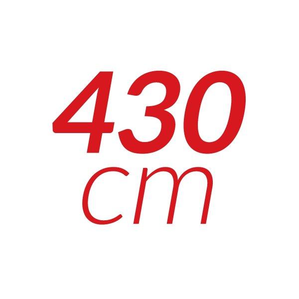 430 cm