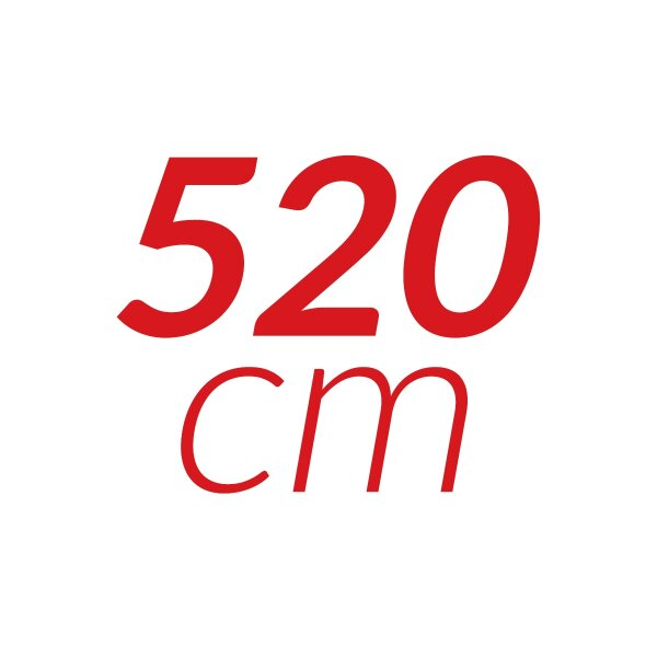 520 cm
