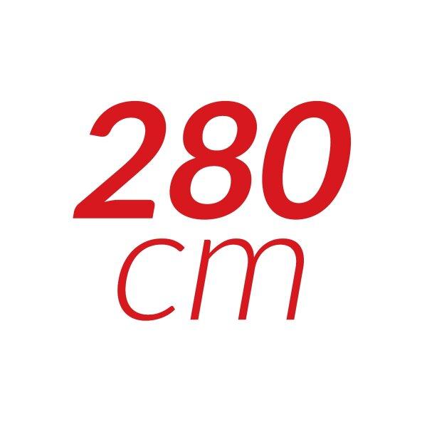 280 cm